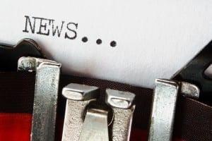 News Press Release On Retro Typewriter