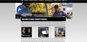 Cobalt Security Services' Website - Before Text Changes
