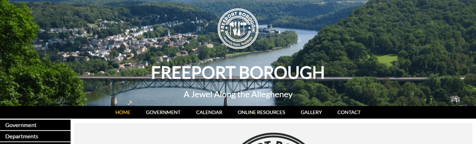 Government Website Design - Freeport Borough