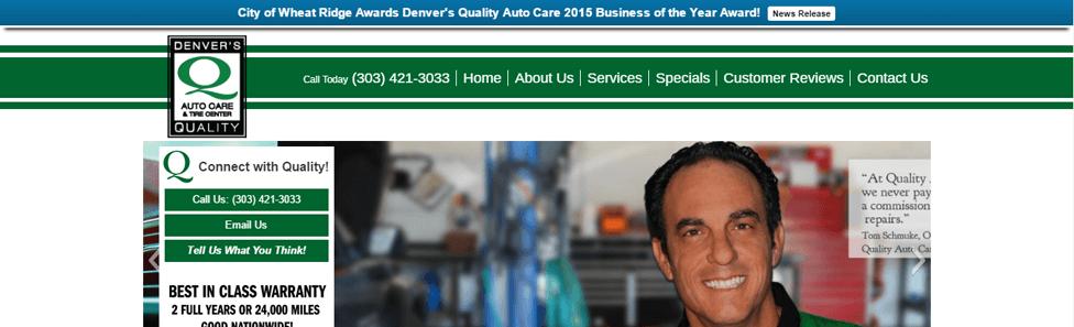 Affordable Web Design - Quality Auto Care