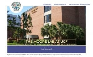Moore Lab at UCF Website Design