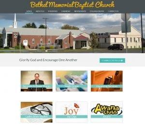 Bethel Memorial Baptist Church Website Design