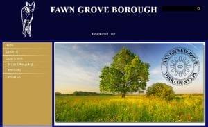 Fawn Grove Borough Website Design