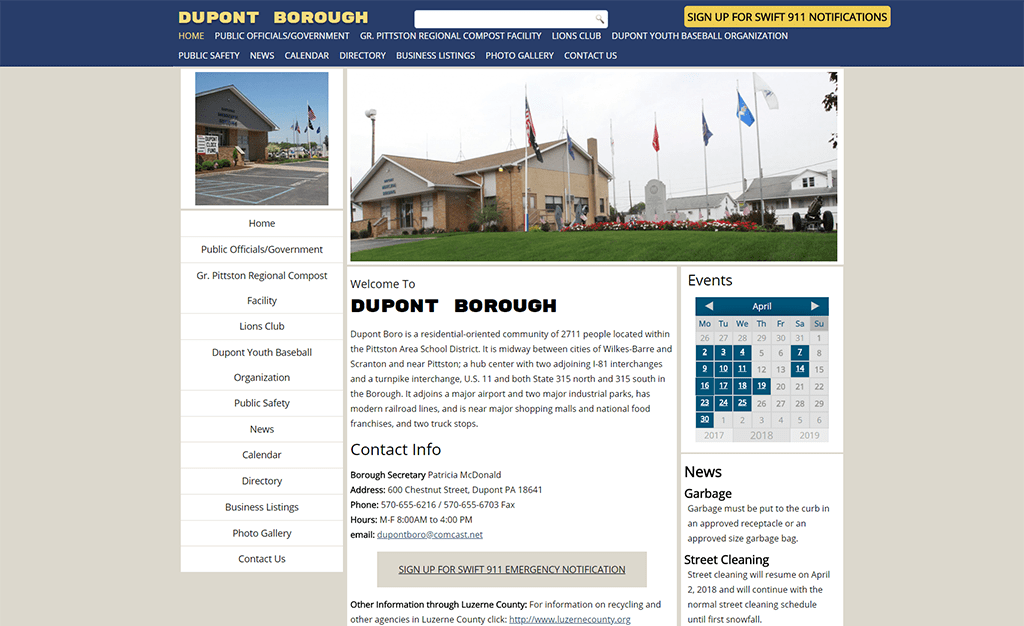 Dupont Borough Website
