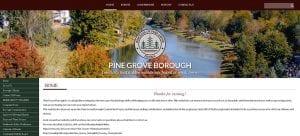 Pine Grove Borough Website Design