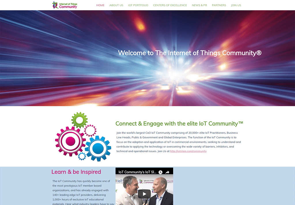 IoT Community Website Design