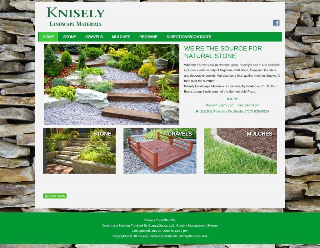 Knisely Landscape Materials Website Design