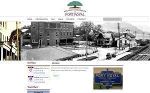 Port Royal Borough Website Design