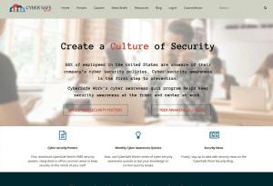CyberSafe Work website design