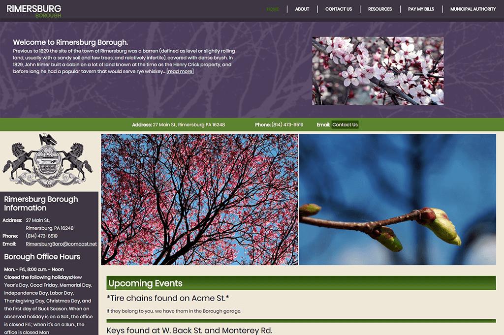 Rimersburg Borough Website Design