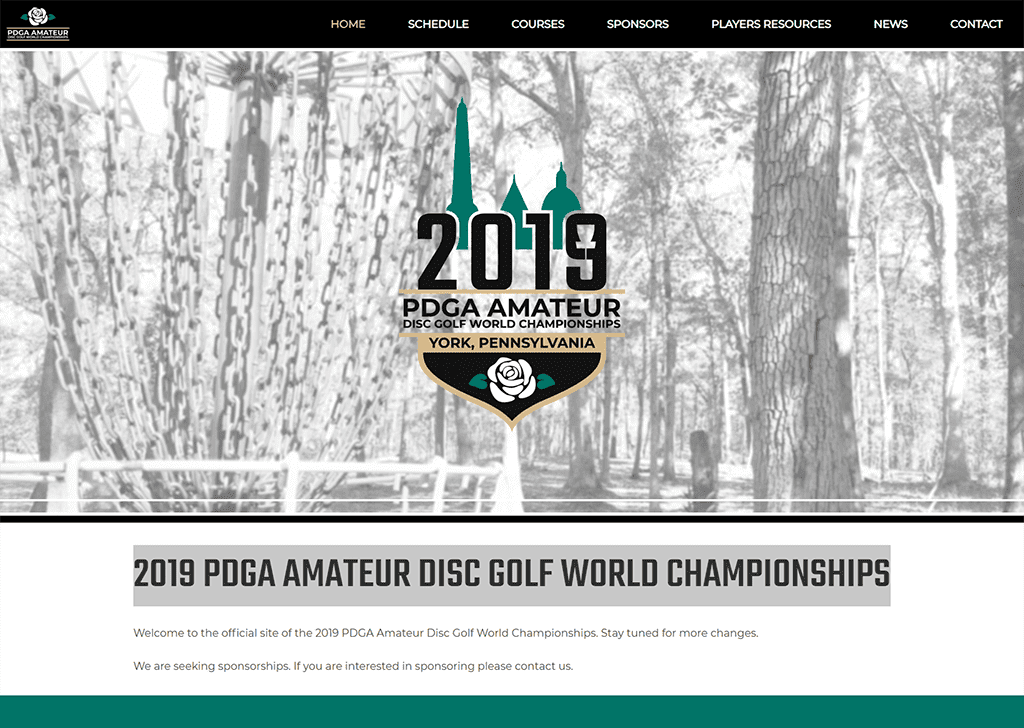2019 Am Worlds Website Design