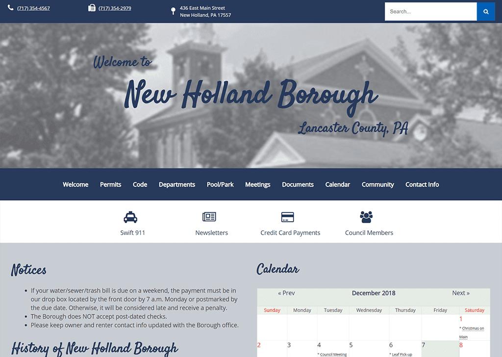 New Holland Borough Website