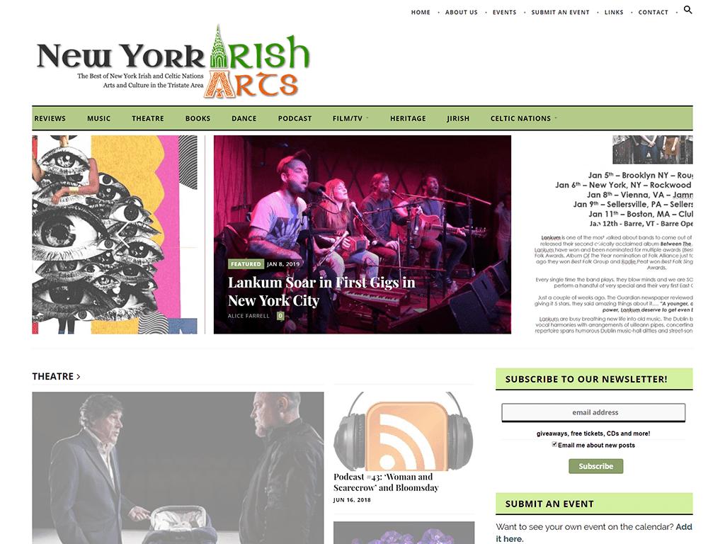 New York Irish Arts Website