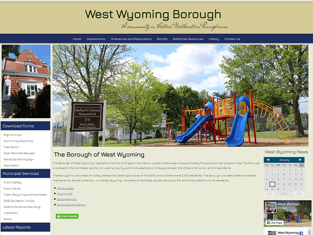 West Wyoming Borough website