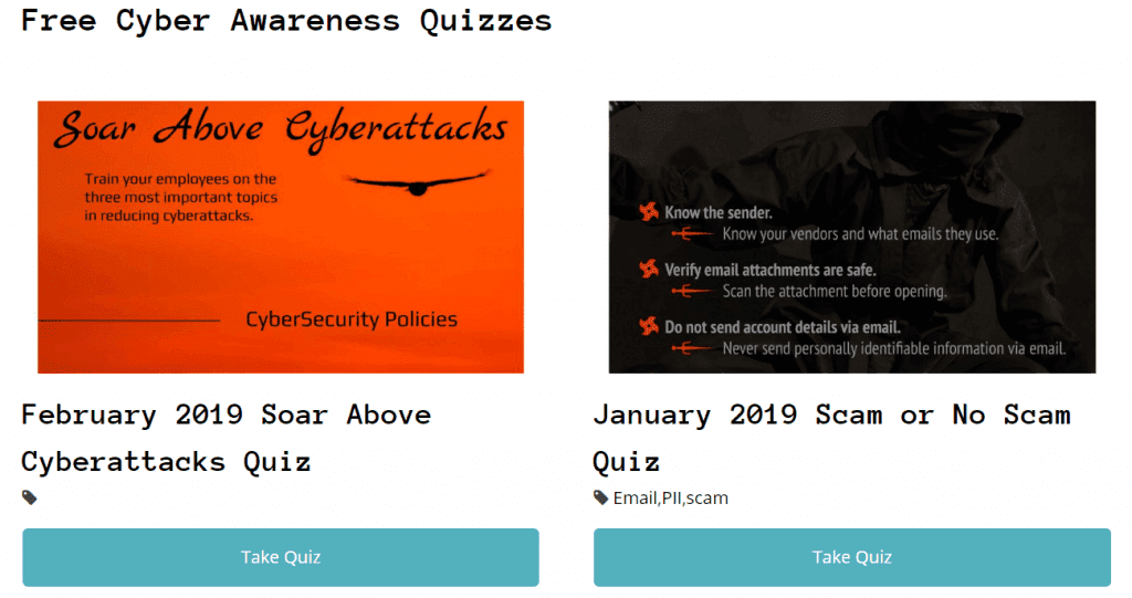 Free Cyber Security Quiz Library