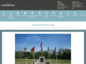 Duncansville PA Small Government Website Design