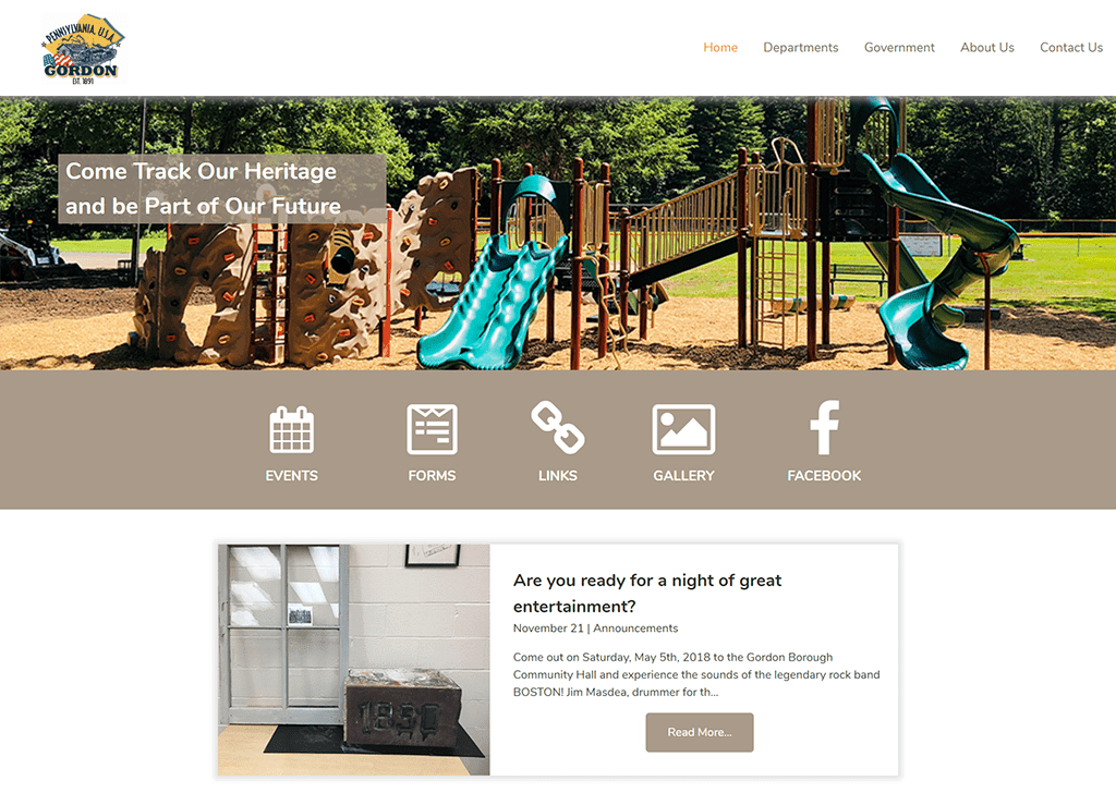 Gordon Borough Website