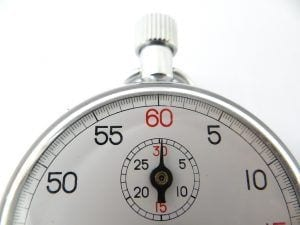 stop watch illustrating how quickly a website can be hacked