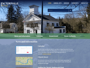 Factoryville Borough website redesign