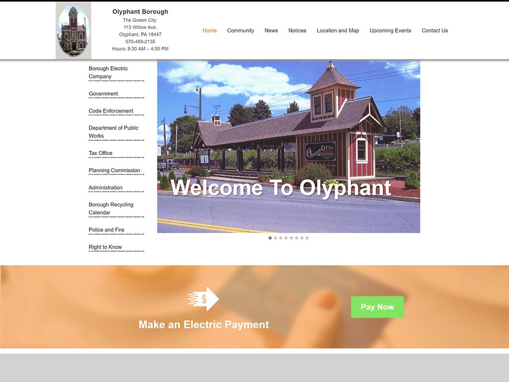olyphant borough website redesign