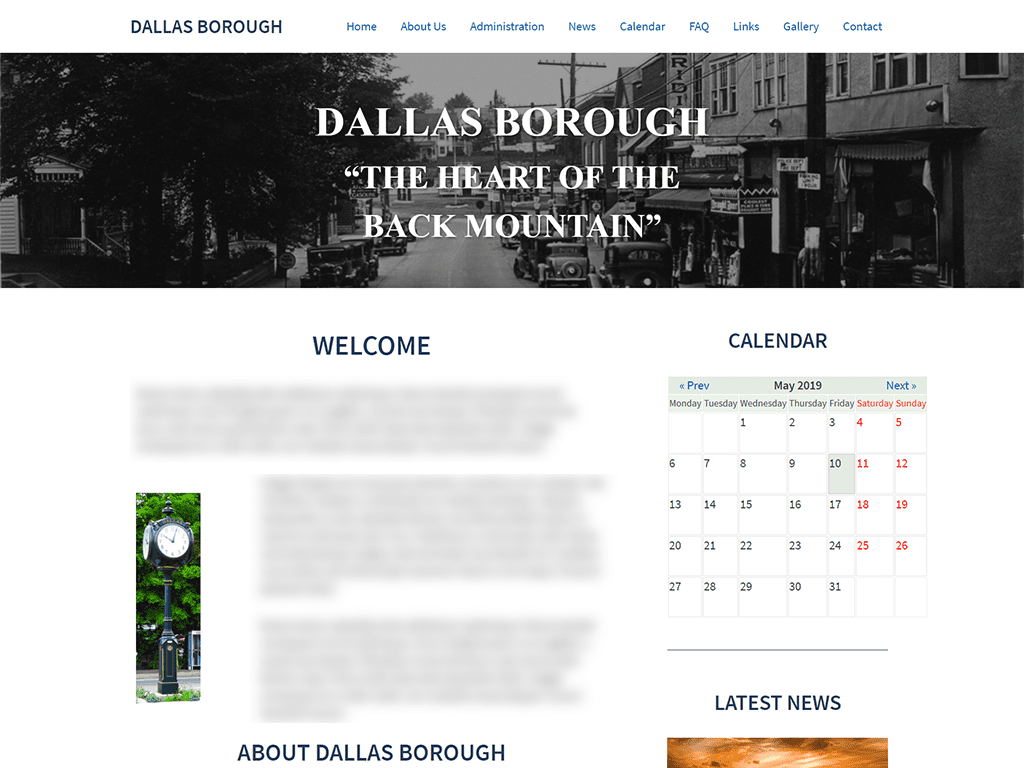 Dallas Borough Website Design