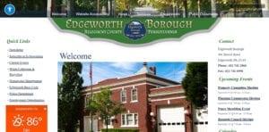 Edgeworth Borough Website - as built