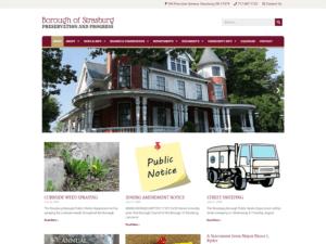 Strasburg Borough website redesign